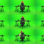 Woman-Searching-in-the-Phone-Green-Screen-Footage Green Screen Stock