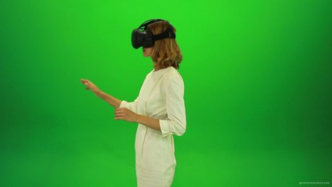 vj video background Woman-Working-in-the-Virtual-Reality-2-Green-Screen-Footage_003