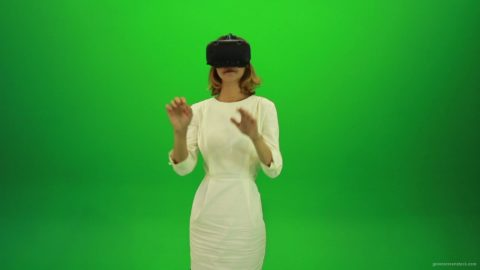 vj video background Woman-Working-in-the-Virtual-Reality-Green-Screen-Footage_003