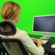 Woman-Working-on-the-Computer-5-Green-Screen-Footage_001 Green Screen Stock