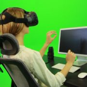 Woman-Working-on-the-Computer-in-Virtual-Reality-Green-Screen-Footage_008 Green Screen Stock
