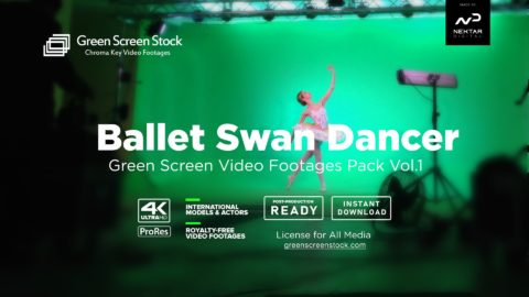 Ballet Swan Dancer – Green Screen Video Footage Pack Vol.1