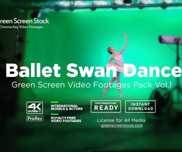 Ballet Swan Dancer – Green Screen Video Footage Pack Vol.1