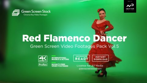 05 Flamenco Dance Woman – Green Screen Video Footage Pack Vol.5-min