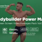 Bodybuilder green screen