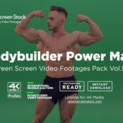 Bodybuilder green screen