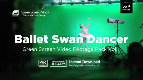 green screen ballet dancer video