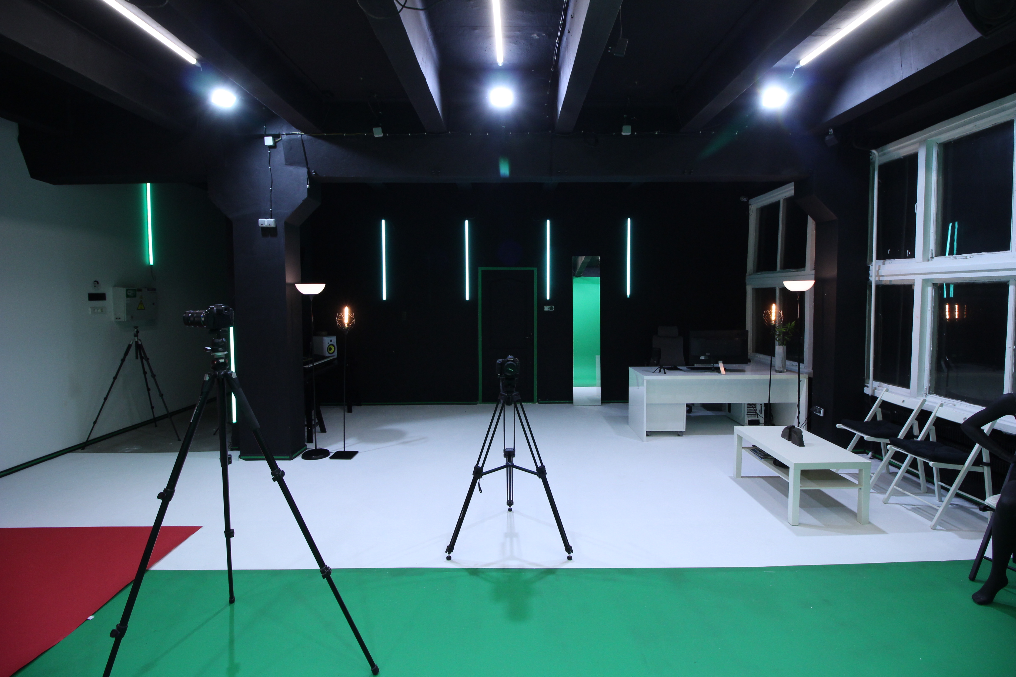 chroma key video production studio