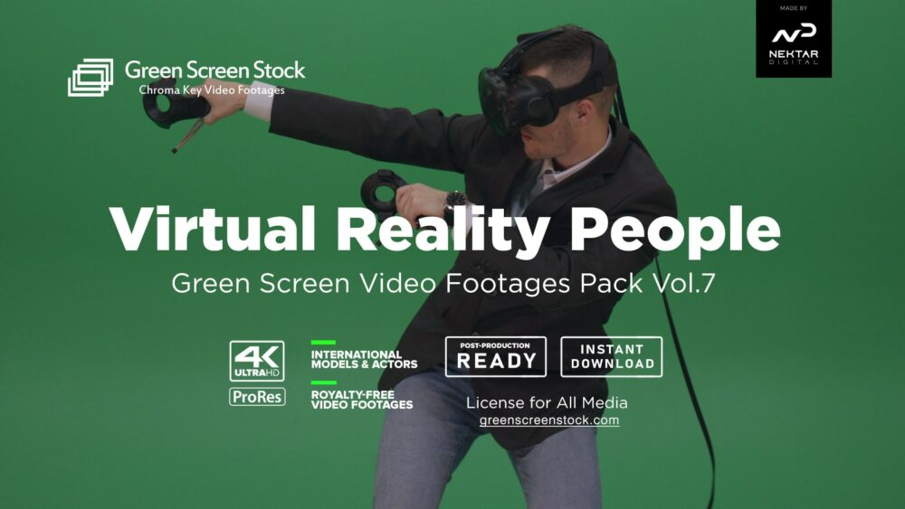 irual Reality people Green Screen Video Footage