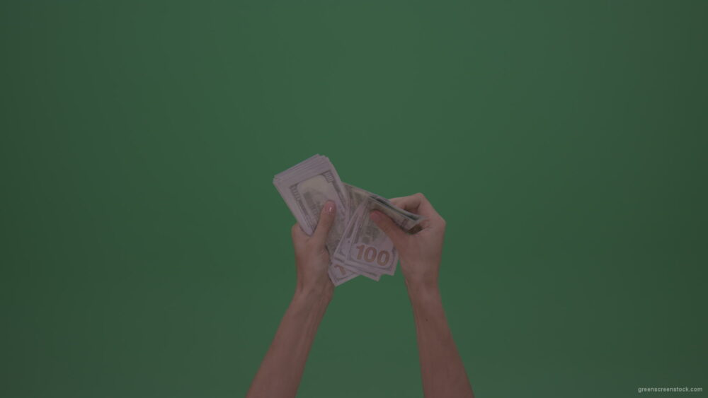 vj video background Beautiful-Thin-Female-Hands-Counting-Dollar-Currency-Money-On-Green-Screen-Wall-Background_003