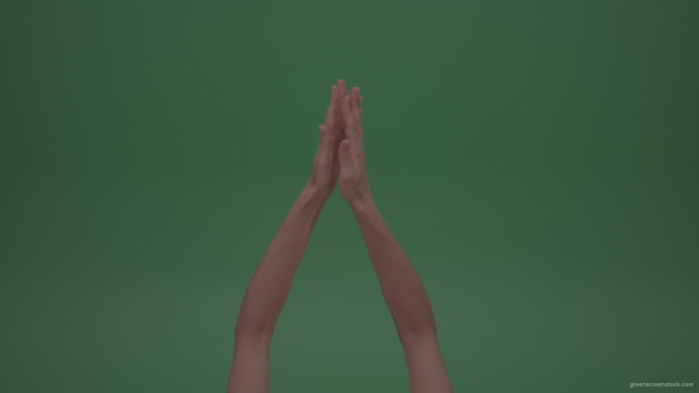 vj video background Rapidly-Clapping-Young-FemaleHands-Ovation-GreenScreenWall-ChromaKey-Background_003