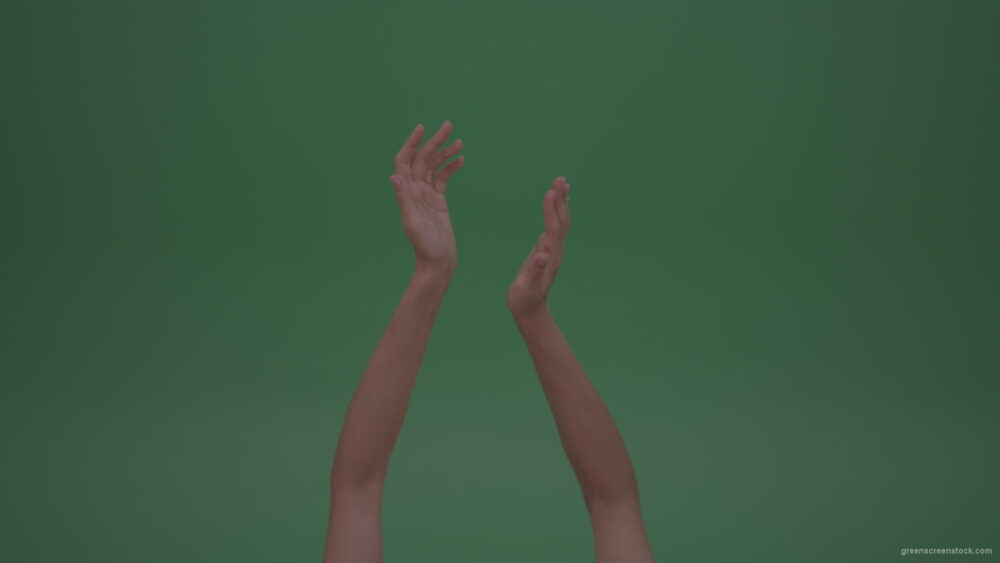 Sarcastic-Slowly-Clapping-Young-Female-Thin-Beautiful-Hands-On-Green-Screen-ChromaKey-WallBackground_005 Green Screen Stock