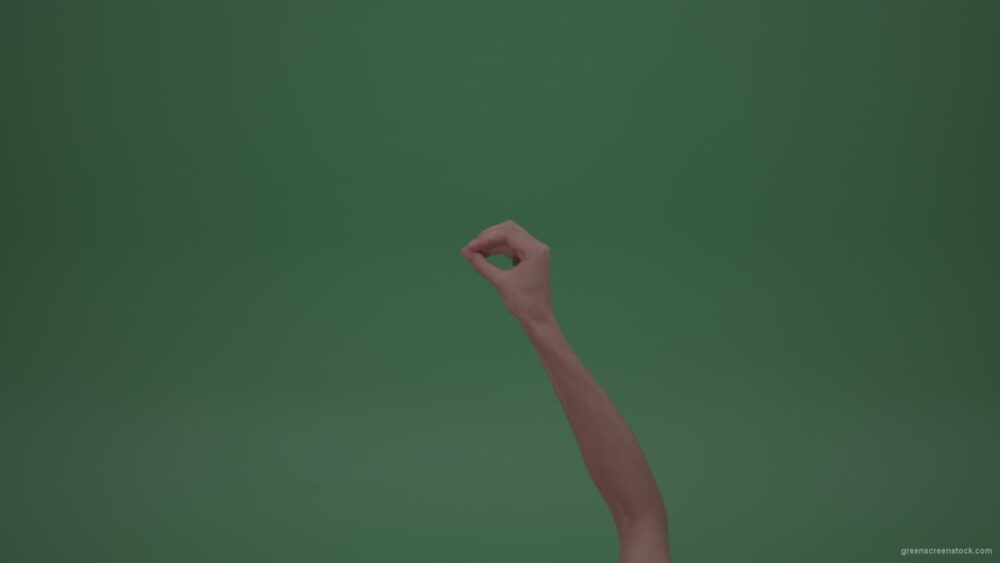 Young-Beautiful-Female-Hand-Rapidly-Playing-Rock-Paper-Scissors-Game-Giving-All-The-Figures-On-GreenScreen-WallChromaKey-Background_006 Green Screen Stock
