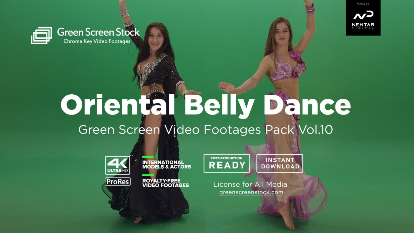 Oriental Belly Dance green screen