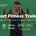 Blonde Fitness Trainer – Green Screen Video Footage Pack Vol.15-min