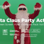 Santa Claus Party Action - Green Screen Video Footage