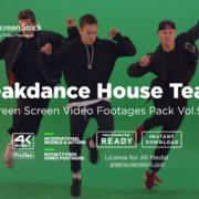 break dance on green screen