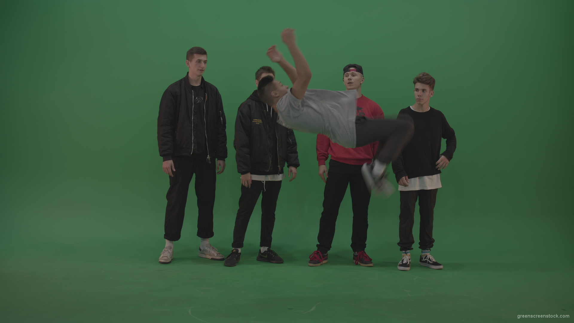 Break dance battle contest boys – Green Screen Video Footage Ultra HD