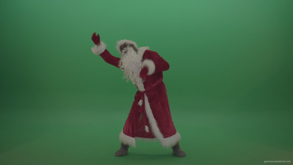 vj video background Crazy-santa-moves-over-chromakey-background_003