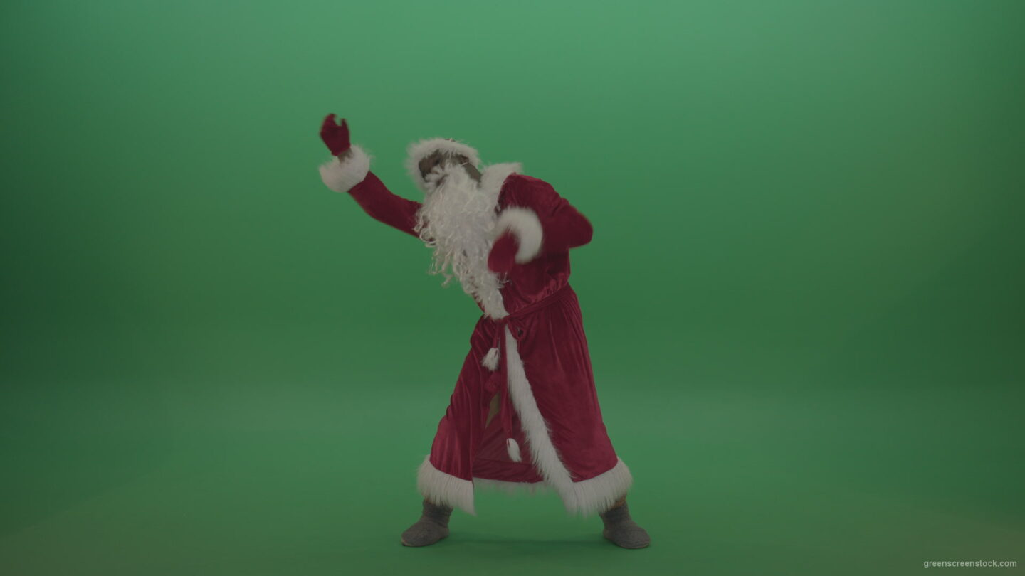 vj video background Crazy-santa-moves-over-chromakey-background_003