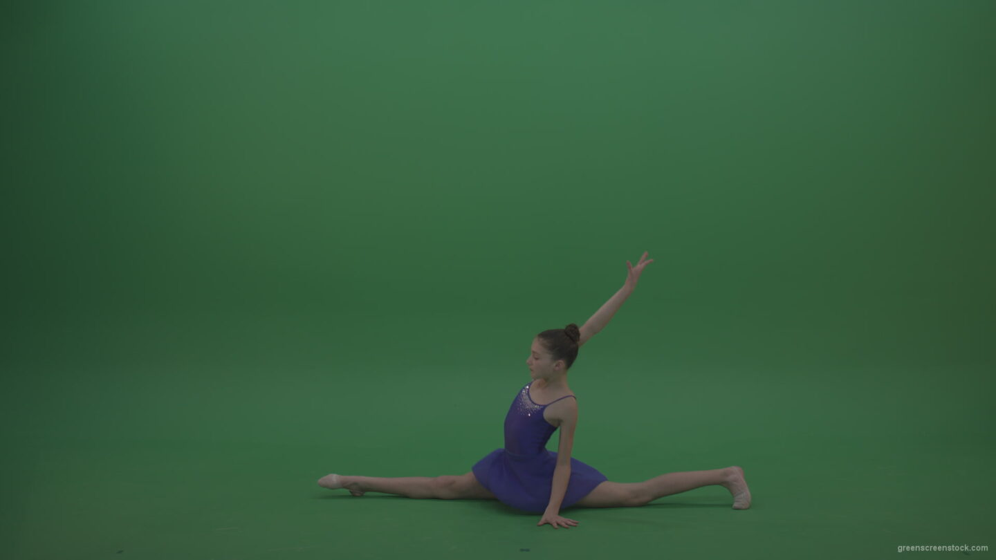 vj video background Cute_Athletic_Gymnast_Performing_Awesome_Split_Technique_Spin_Combination_With_Back_Handspring_On_Green_Screen_Chroma_Key_Wall_Background_003