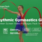rythmic gymnastic kids green screen video footage
