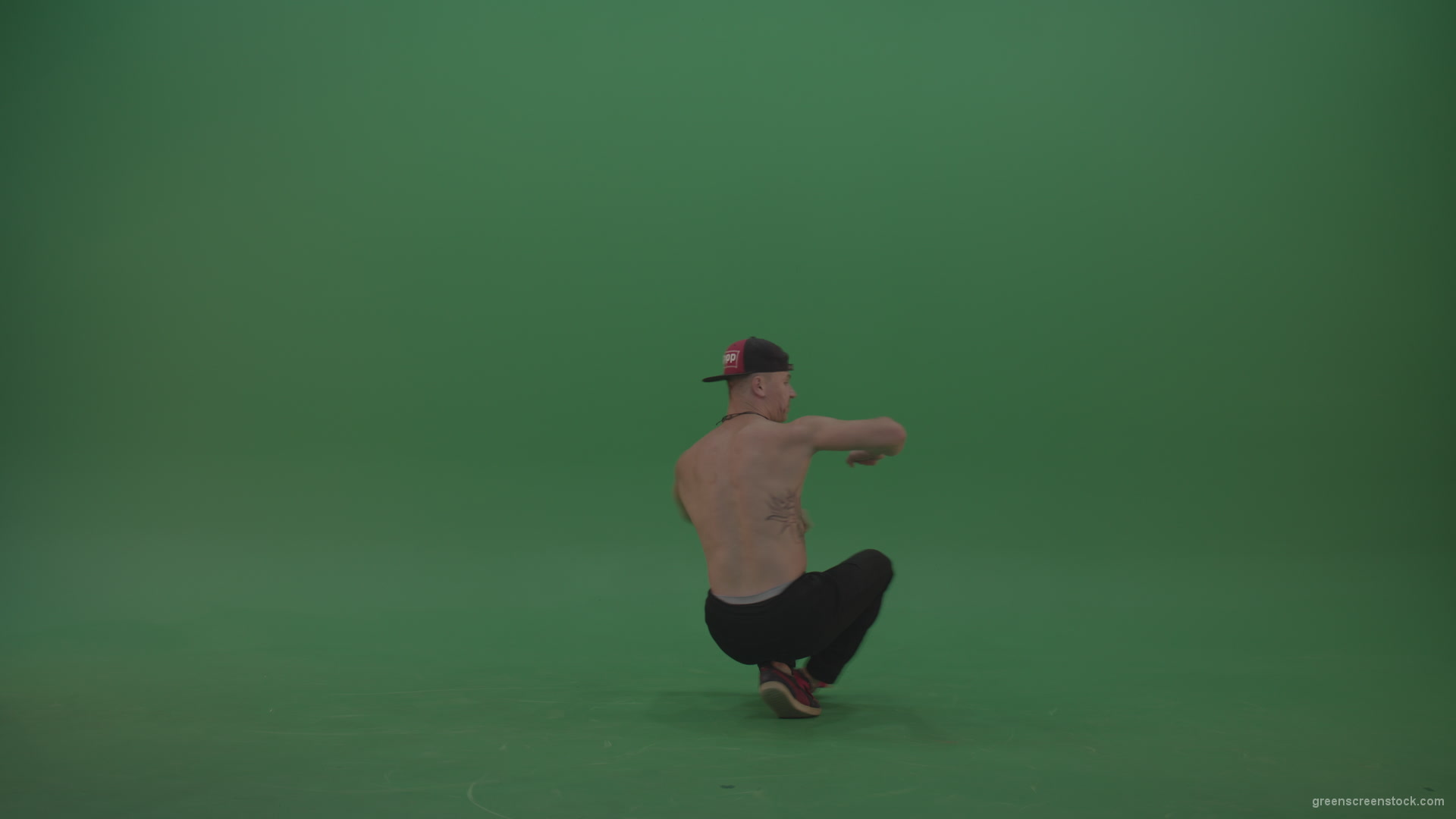 Naked Boy Dancing On Green Background - Green Screen Video -9037