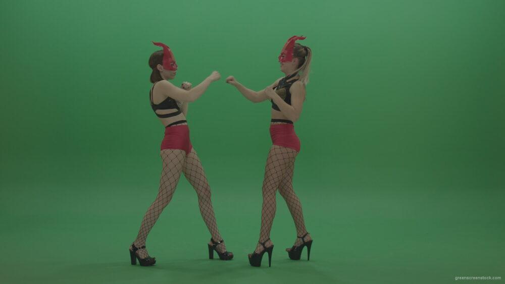 PJ-Demons-Go-Go-Dance-Woman-Red-Mask-Dancers-Green-Screen-Stock-14_006 Green Screen Stock