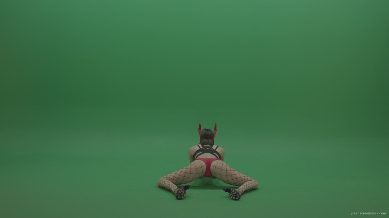 PJ-Demons-Go-Go-Dance-Woman-Red-Mask-Dancers-Green-Screen-Stock-4_006 Green Screen Stock