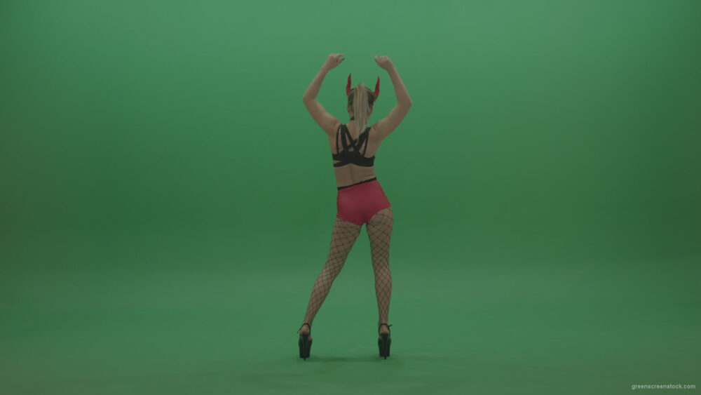 PJ-Demons-Go-Go-Dance-Woman-Red-Mask-Dancers-Green-Screen-Stock-8_002 Green Screen Stock