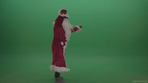 vj video background Santa-in-black-glasses-shows-his-dance-skills-over-chromakey-background_003