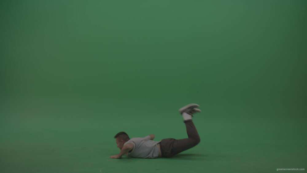Wave-movements-by-break-dancing-man-on-green-screen-floor_004 Green Screen Stock