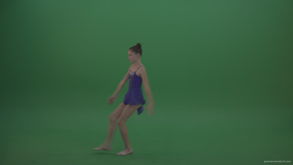 vj video background Young_Gymnast_Showing_Marvelous_Technical_Dance_Swan_Ballet_Moves_Technical_Performance_Of_Rhythmic_Artistic_Gymnastics_On_Green_Screen_Wall_Background_003
