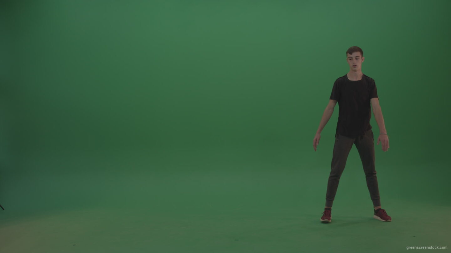 Young_Tanned_Athlete_Doing_Great_Chain_Combination_Of_Wheel_And_360_Freerun_Parkour_Tricks_On_Green_Screen_Wall_Chroma_Key_Background_002 Green Screen Stock