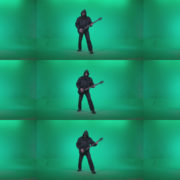 Death-Metal-Guitarist-with-beard-plays-music-on-green-screen-background Green Screen Stock