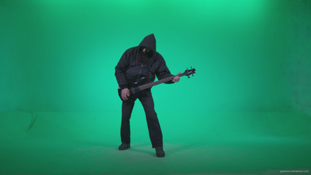 vj video background Death-Metal-Guitarist-with-beard-plays-music-on-green-screen-background_003