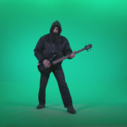 Death-Metal-Guitarist-with-beard-plays-music-on-green-screen-background_005 Green Screen Stock