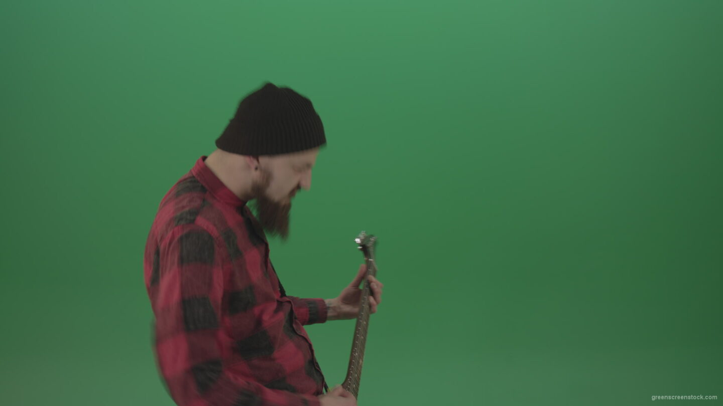 vj video background Angry-punk-rock-man-guitarist-play-guitar-and-scream-death-hardcore-music-isolated-on-green-screen_003