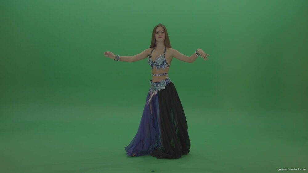 vj video background Beautiful-belly-dancer-in-purple-and-black-wear-display-dance-moves-over-green-screen-background_003