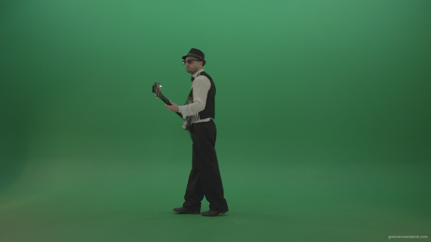 vj video background Cheerful-guitarist-going-to-play-a-white-guitar-and-performing-drive-music_003