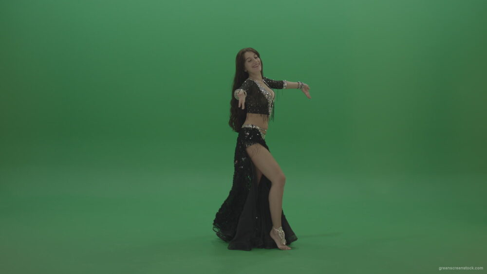 vj video background Gorgeous-belly-dancer-in-black-wear-display-amazing-dance-moves-over-chromakey-background_003
