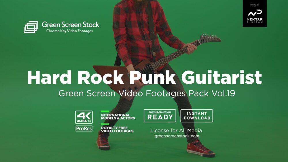 Green Screen Stock Product Image HARD ROCK GUITARIST