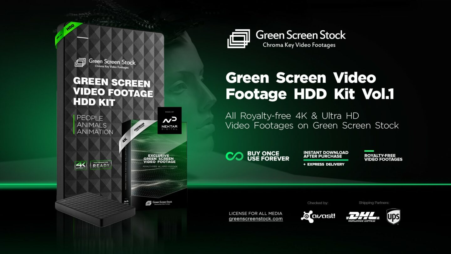 HDD Green Screen VIdeo Footage Kit-min