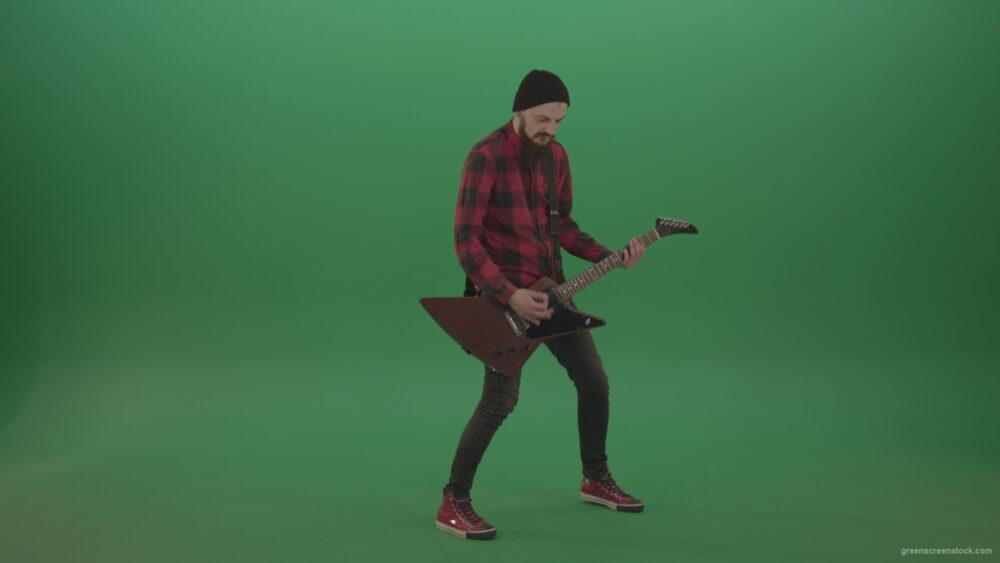vj video background Rock-Man-Guitarist-playing-light-rock-on-green-screen_003