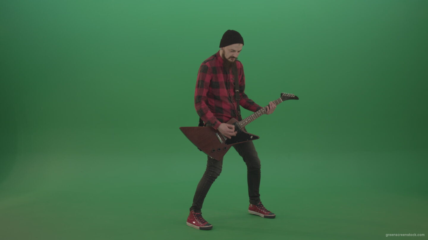vj video background Rock-Man-Guitarist-playing-light-rock-on-green-screen_003