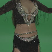 Stunning-belly-dancer-in-black-wear-display-amazing-dance-moves-over-chromakey-background_009 Green Screen Stock