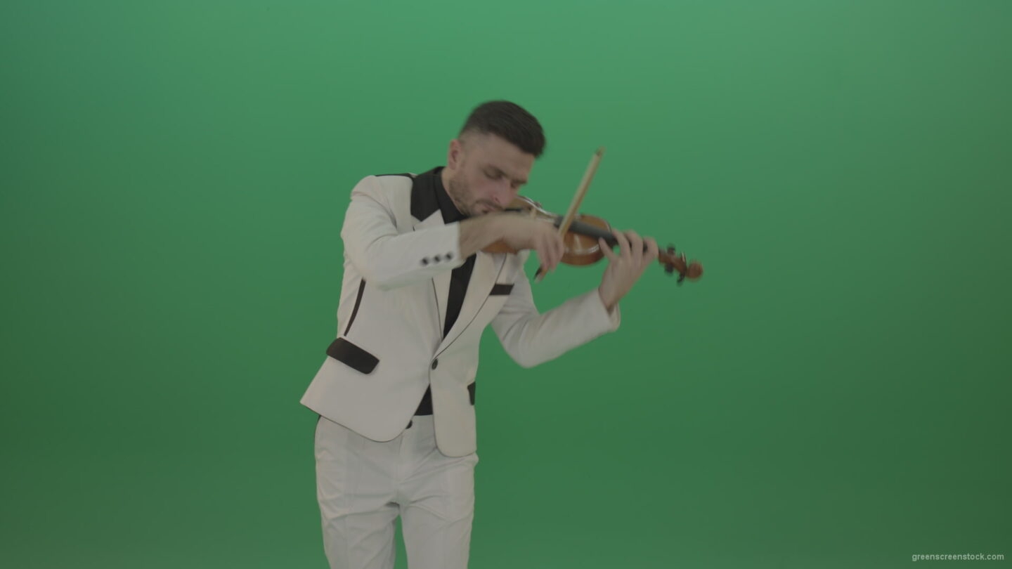 vj video background Violin-music-instrument-play-by-jazz-man-in-white-costume_003
