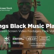 strings black man in mask green screen