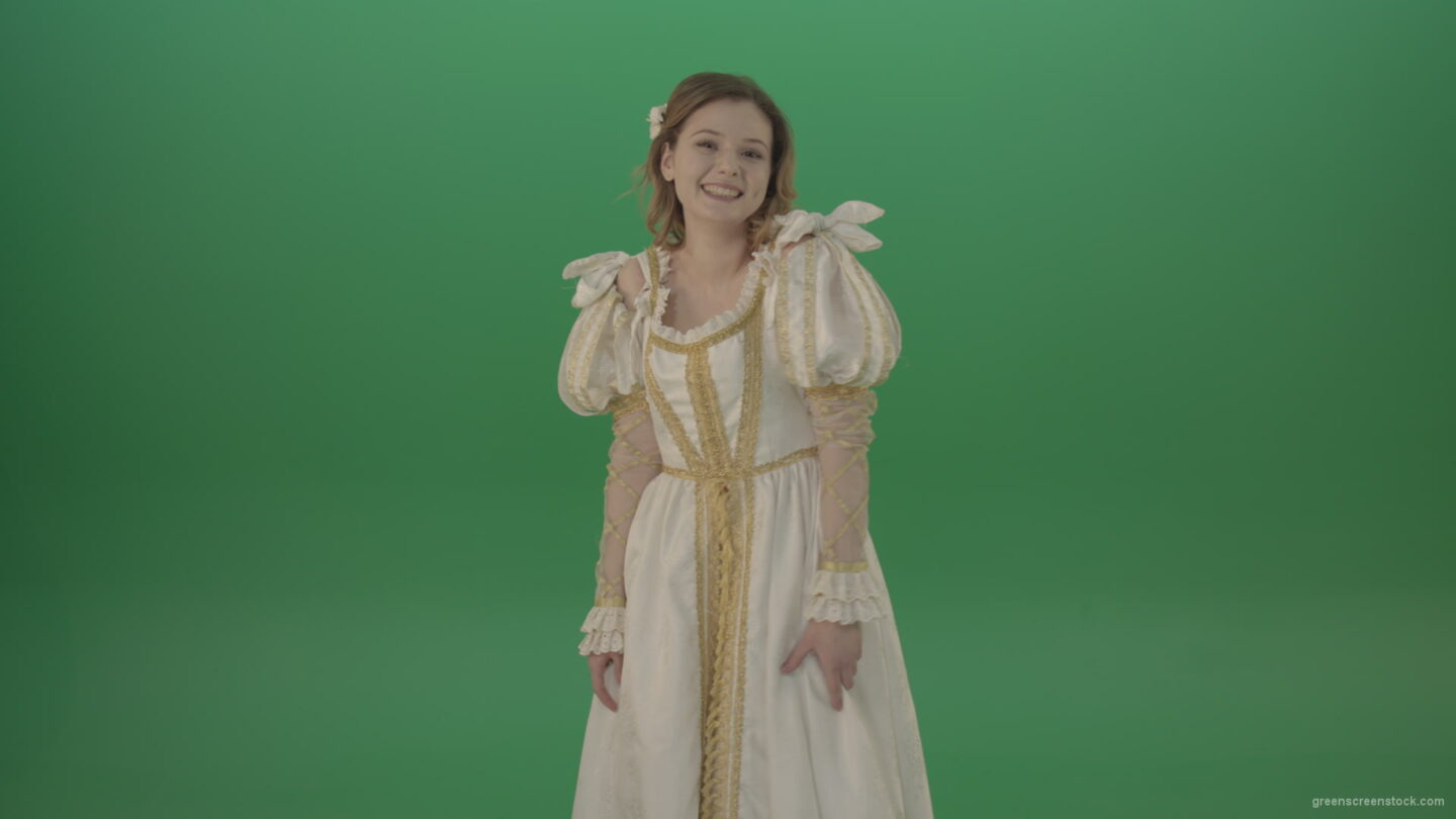 vj video background Awkward-laughter-of-a-beautiful-girl-isolated-on-green-screen_003