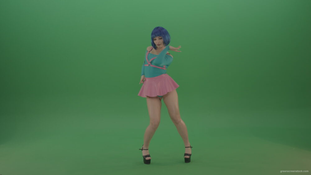 vj video background Beauty-sexy-girl-dancing-strip-go-go-dance-on-green-screen_003